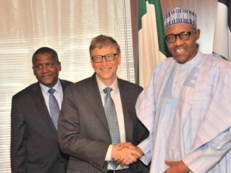 Bill Gates with Dangote and Buhari