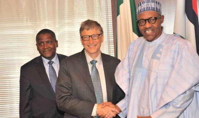 Bill Gates with Dangote and Buhari