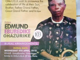 Independence Ogunewe and Ararume in law dead