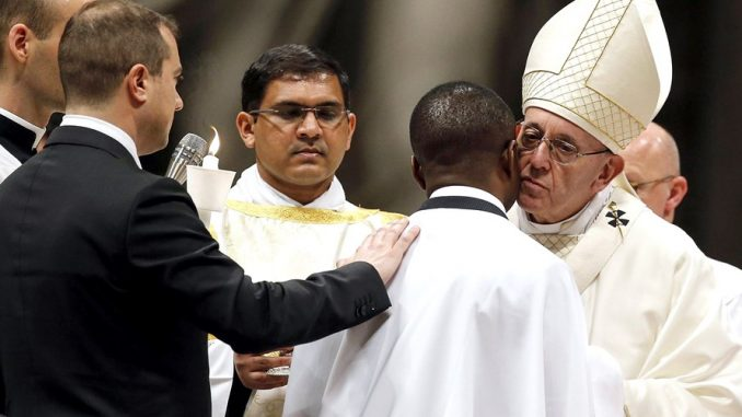 Pope Francis and Nigerian Immigrant John Ogah