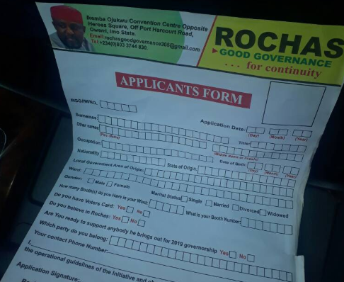 See the form prospective vigilante members in Imo state are made to fill before they gain employment
