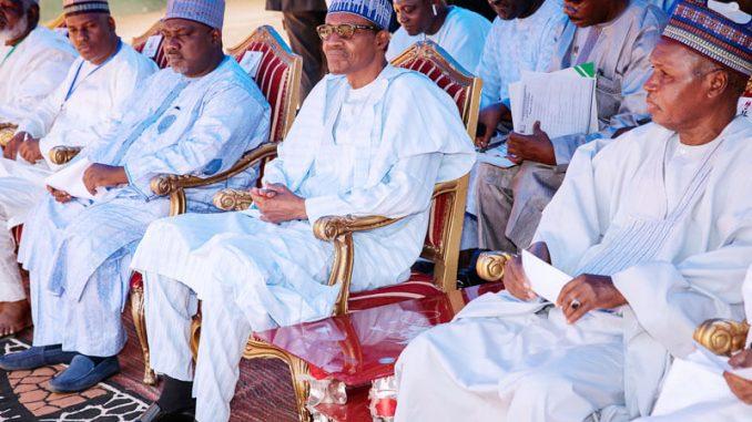 Buhari-sits-at-APC-Congress
