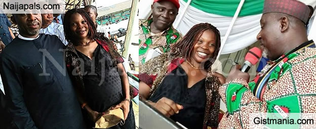 Gov. Okorocha Of Imo State Gifts N1m To Pregnant Woman For Taking Part In Workers' Day Match (PICS)